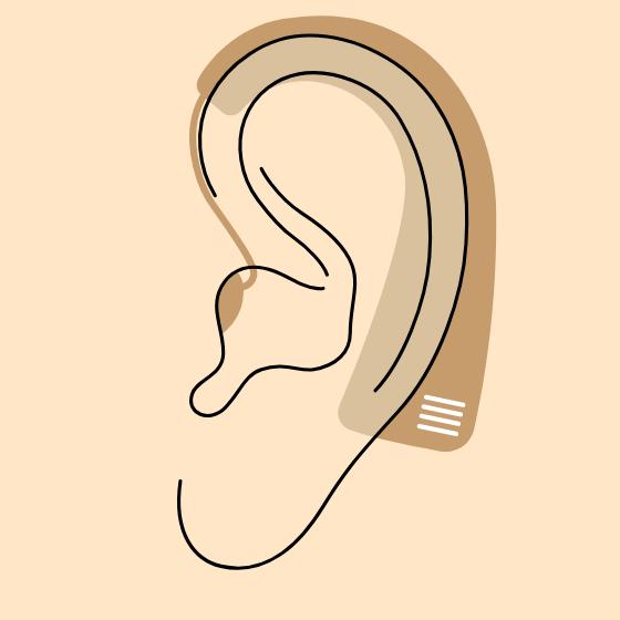 耳かけ型補聴器